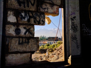 A peak through brokenness. Arequipa
