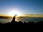 When things get dark. Lake Titicaca