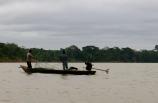Fisherman making their daily catch on Rio Madre de Dios. Puerto Maldonado