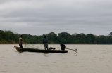 Fisherman making their daily catch on Rio Madre de Dios. Puerto Maldonado