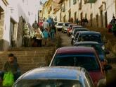 Cusco traffic jam