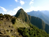 A group of people decided one day to build a city high up on a mountain and to use that place to share the exclusive teaching of that group's wisest. Machu Picchu