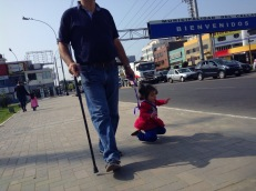 The challenges of baby walking. Callao