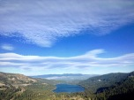 a dark shadow is approaching, Donner Lake